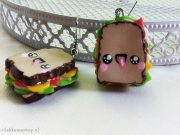 Kawaii so delicious ham sandwich earrings