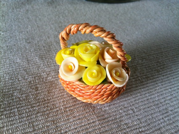 Basket of Flowers for Mother's day, rilakkumashop.nl