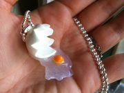 Broken Egg necklace, Miniature Food, Polymer Clay
